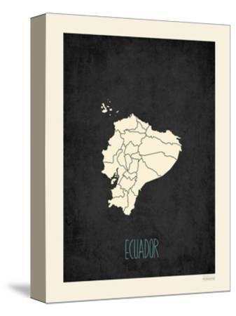 Black Map Ecuador
