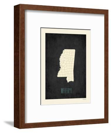 Black Map Mississippi