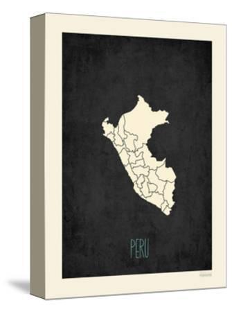 Black Map Peru