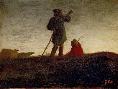 Recalling the Flock, 1866-72-Jean-Francois Millet-Giclee Print