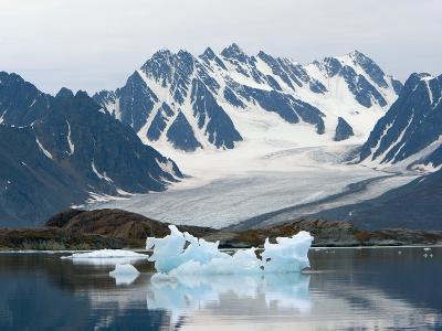 Receding Glacier, Liefderfjorden Fiord, Svalbard, Norway-Alice Garland-Photographic Print