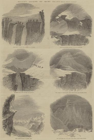 Recent Ascent of Mont Blanc--Giclee Print