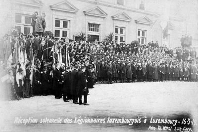 Reception for the Luxembourg Legionnaires, Luxembourg, 16 March 1919-T Wirol-Giclee Print