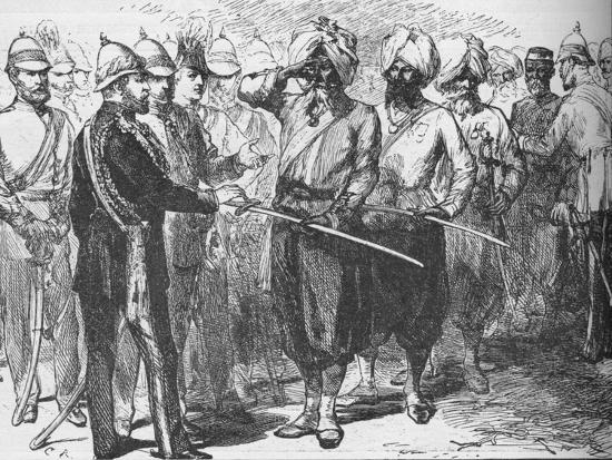 Reception for the survivors of the defence of Lucknow, India, January 1876-Unknown-Giclee Print