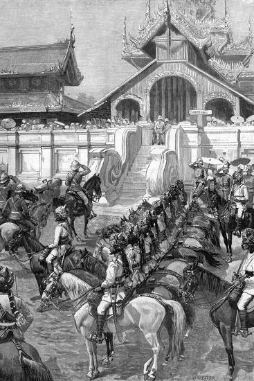 Reception of General Roberts in Mandalay at the East Gate of the Palace, Burma, 1887-A Forestier-Giclee Print