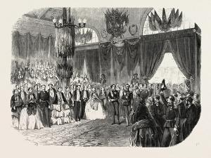 Reception of Hm the King of Sardinia on the Railway Station in Lyon, November 23, 1855. France.