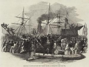 Reception of Kossuth, on Board the Madrid Steamer, at Southampton