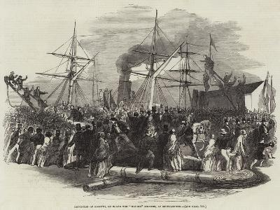 Reception of Kossuth, on Board the Madrid Steamer, at Southampton--Giclee Print