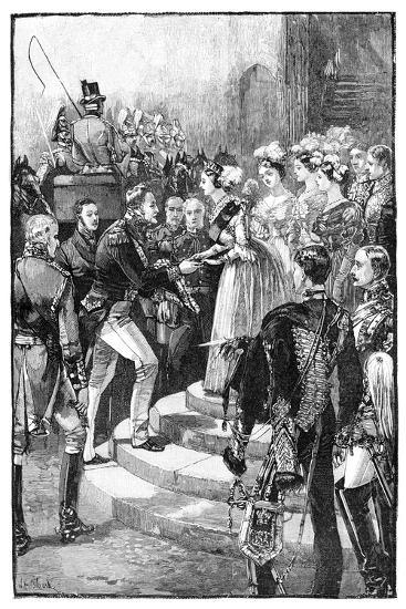 Reception of Louis Philippe at Windsor Castle, 1844--Giclee Print