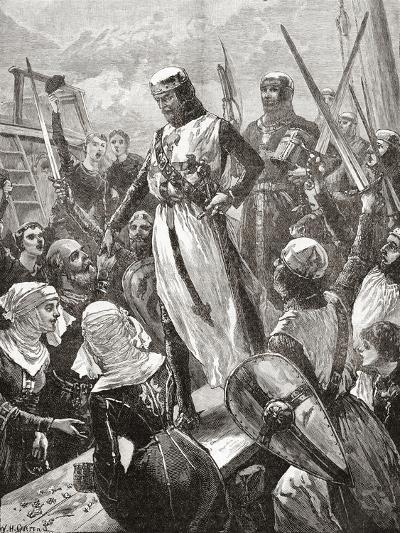 Reception of Richard in 1194--Giclee Print