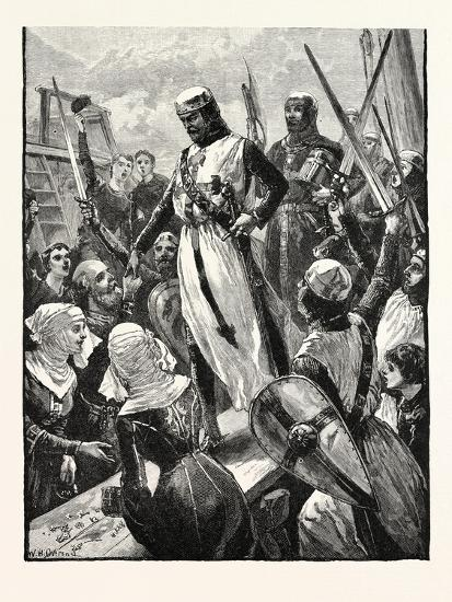 Reception of Richard on His Return from the Continent--Giclee Print