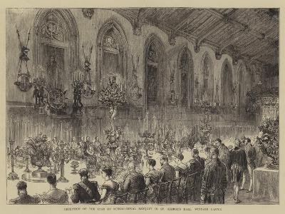 Reception of the Czar of Russia, Royal Banquet in St George's Hall, Windsor Castle--Giclee Print
