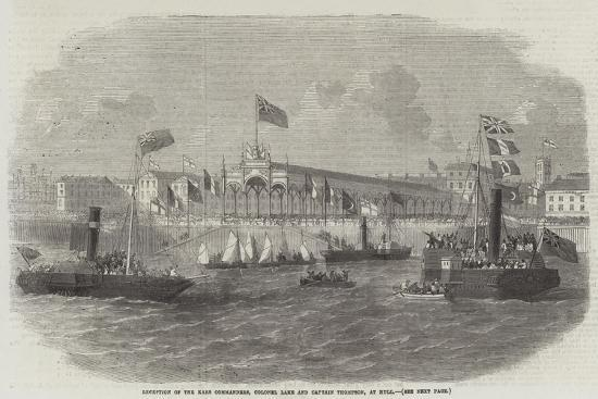 Reception of the Kars Commanders, Colonel Lake and Captain Thompson, at Hull--Giclee Print