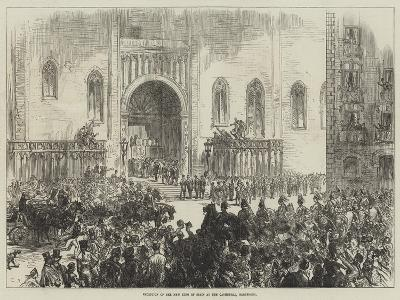 Reception of the New King of Spain at the Cathedral, Barcelona-Charles Robinson-Giclee Print