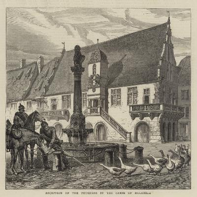 Reception of the Prussians by the Geese of Molsheim--Giclee Print