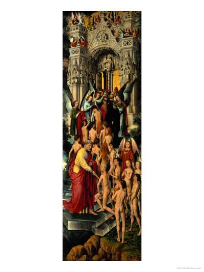 Reception of the Righteous into Heaven, Left Panel of Last Judgment Triptych, 1467-71-Hans Memling-Giclee Print