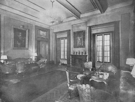 Reception room for the visit of King Victor Emmanuel III and Queen Elena of Italy to Cairo, c1933-Unknown-Photographic Print