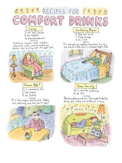 Recipes For Comfort Drinks - New Yorker Cartoon-Roz Chast-Premium Giclee Print