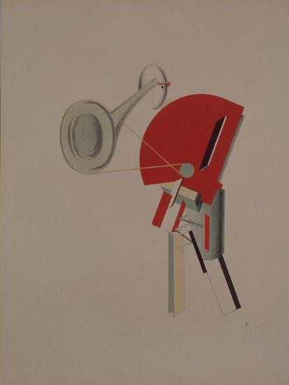 Reciter. Figurine for the Opera Victory over the Sun, 1920-1921-El Lissitzky-Giclee Print