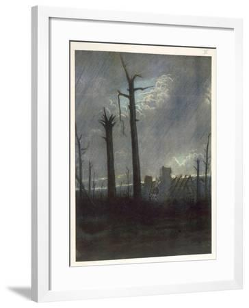 Reclaimed Country, from British Artists at the Front, Continuation of the Western Front, 1918-Christopher Richard Wynne Nevinson-Framed Giclee Print