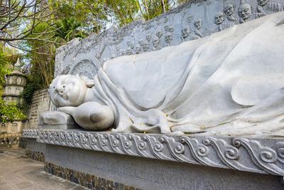 Reclining Buddha at Long Son Pagoda (Chua Long Son) Buddhist Temple, Khanh Hoa Province, Vietnam-Jason Langley-Photographic Print