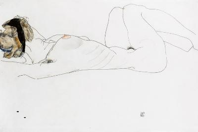 Reclining Female Nude, 1912-Egon Schiele-Giclee Print