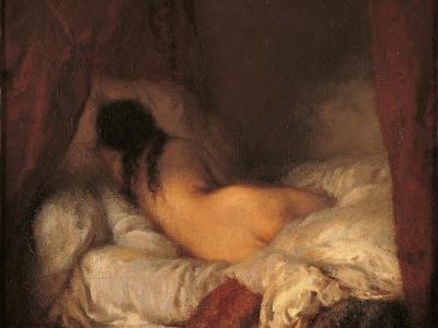 Reclining Female Nude-Jean-Fran?ois Millet-Art Print