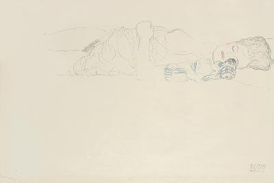 Reclining Half Nude to the Right, C.1914-15-Gustav Klimt-Giclee Print