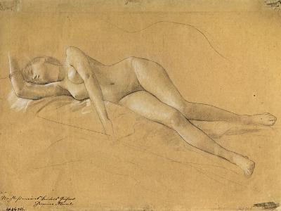Reclining Maenade-Gustav Klimt-Giclee Print