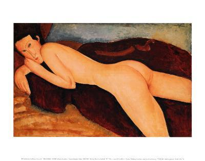 Reclining Nude from the Back, 1917-Amedeo Modigliani-Art Print