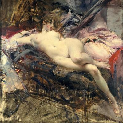 Reclining Nude, Late 19Th/Early 20th Century-Giovanni Boldini-Giclee Print