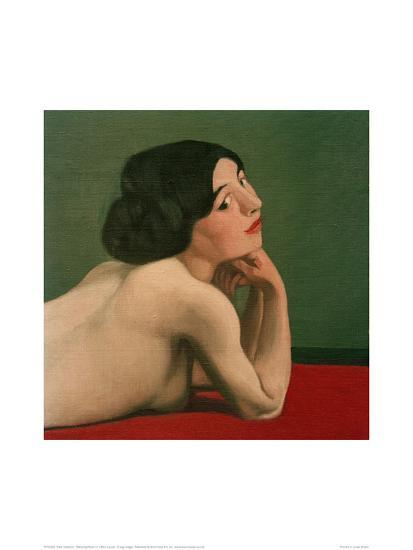 Reclining Nude on a Red Carpet-F?lix Vallotton-Giclee Print