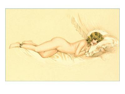 Reclining Nude with Snake Anklet--Art Print