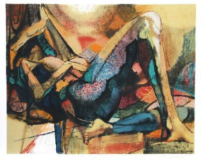 Reclining Nude-Jim Jonson-Collectable Print