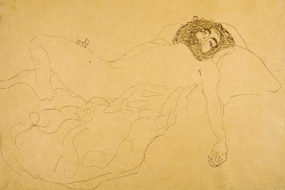 Reclining Nude-Gustav Klimt-Giclee Print