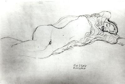 Reclining Woman, c.1914-Gustav Klimt-Giclee Print