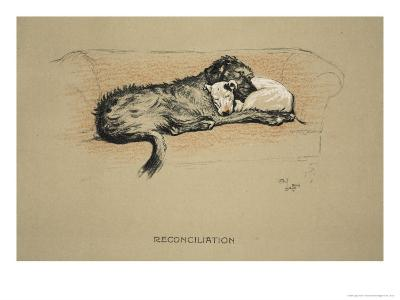 Reconciliation, 1930, 1st Edition of Sleeping Partners-Cecil Aldin-Giclee Print