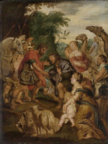 Reconciliation of Jacob and Esau-Peter Paul Rubens-Art Print