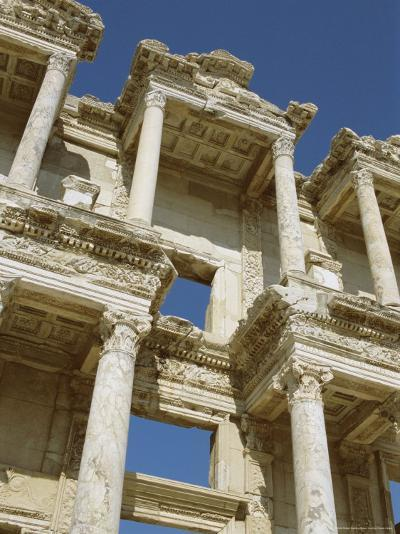 Reconstructed Facade of the Library of Celsus, Archaeological Site, Ephesus, Turkey, Anatolia-Robert Harding-Photographic Print