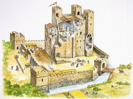 Reconstructed Feudal Castle--Giclee Print