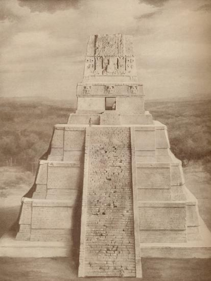 'Reconstructed Model of a Magnificent Maya Temple Pyramid at Tikal', c1935-Unknown-Photographic Print