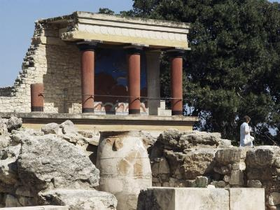 Reconstructed Palace of King Minos, Knossos, Crete, Greece-Michael Short-Photographic Print