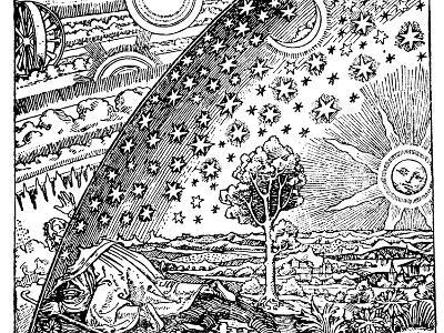 Reconstruction of a Medieval Conception of the Universe, 19th Century--Giclee Print