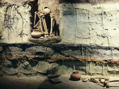 Reconstruction of a Typical Mexican Burial Pit--Giclee Print