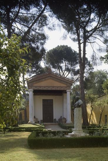 Reconstruction of an Etruscan Temple in the Courtyard of the New Wing of Villa Giulia--Photographic Print