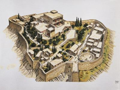 Reconstruction of Ancient Mycenae--Giclee Print
