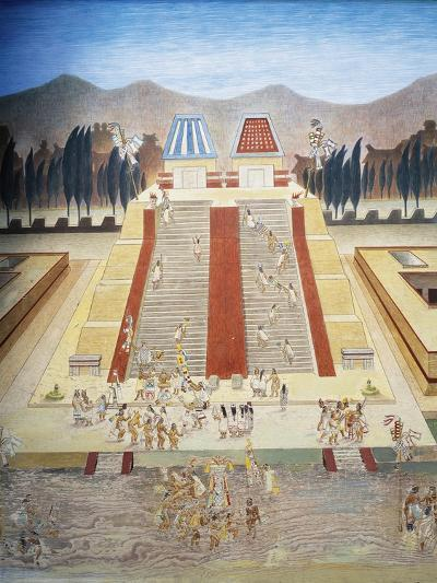 Reconstruction of Consecration Ceremony of the Templo Mayor--Giclee Print