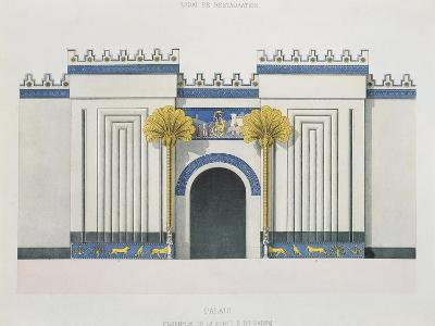 Reconstruction of Entrance Door to Harem at Palace of Sargon II-Victor Place and Felix Thomas-Giclee Print