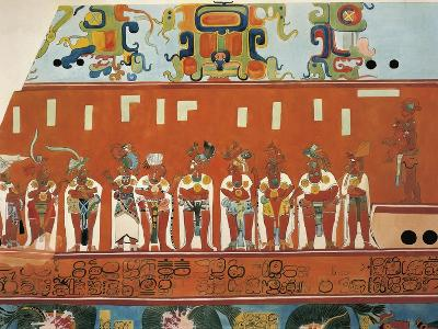 Reconstruction of Frescos from Structure 1 in Bonampak--Giclee Print