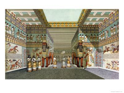 Reconstruction of the Hall of Assyrian Palace, Discoveries in the Ruins of Nineveh and Babylon--Giclee Print
